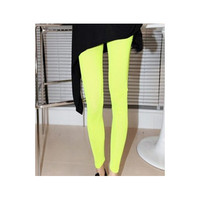 Women Dark Green Rayon Leggings
