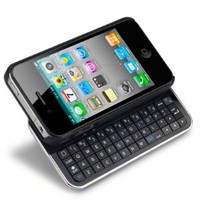 IPHONE 4 / IPHONE 4S BLUETOOTH KEYBOARD SLIDER CASE - BLACK [Electronics]