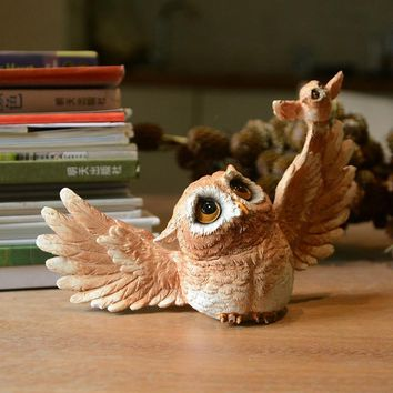 Everyday Collection Owl animal Figurine Modern Crafts  home Decoration accessories  miniature garden tabletop Shelves ornament