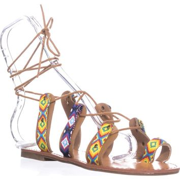 Indigo Rd. Garlan Flat Strappy Sandals, Yellow, 7 US