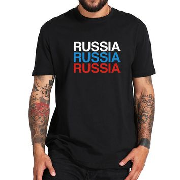 Russia 2018 Tshirt With Flag color Irkutsk Hipster T-shirt Newest Design 100% Cotton Breathable Fashion Tee Tops US Size