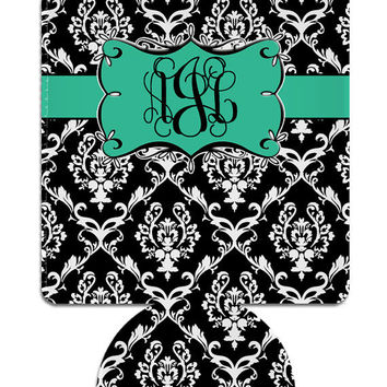 Personalized Monogram Custom  Drink Koozie Can by iselltshirts