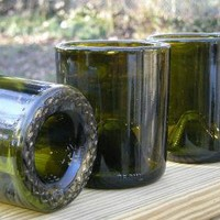 Matching Set of 8 recycled wine bottle glasses by bodhicitta