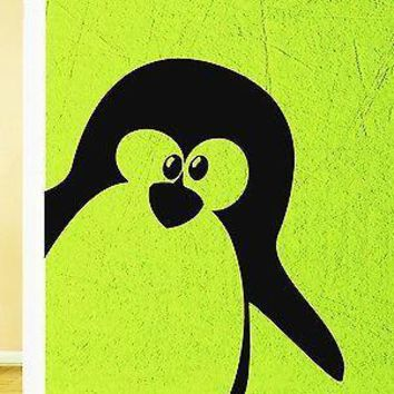 Wall Sticker Vinyl Decal Penguin Cute Animal North Pole Cool Decor Unique Gift (z1046)