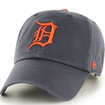 ESBON MLB Detroit Tigers Vintage Road Clean Up Adjustable Hat