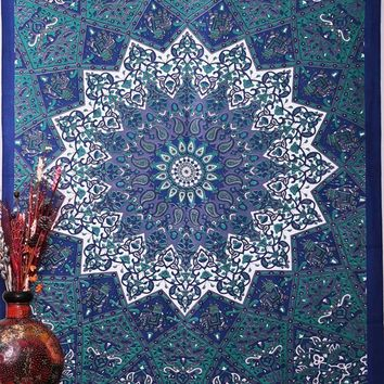 Rectangle Square Flower Tapestry Indian Mandala Wall Hangings Home Couch Blanket Cover