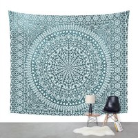 "Society6 BOHO MANDALA BANDANA Wall Tapestry Medium: 68"" x 80"""