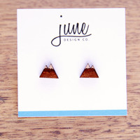 Wooden Mountain Earrings