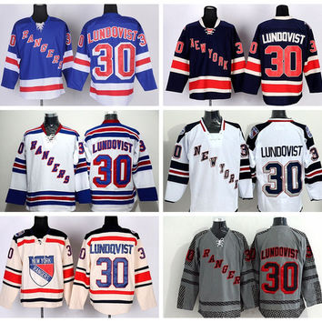 e9451583c New York Rangers 30 Henrik Lundqvist Jerseys Ice Hockey Stadium Series  Lundqvist Rangers Jersey Winter Classic