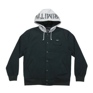 ALLEYWAY HOODED JACKET - BLACK
