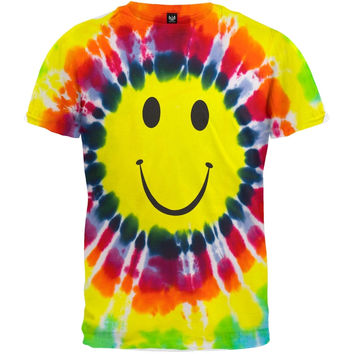 Happy Face Tie Dye Youth T-Shirt