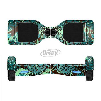 The Delicate Abstract Green Pattern Full-Body Skin Set for the Smart Drifting SuperCharged iiRov HoverBoard