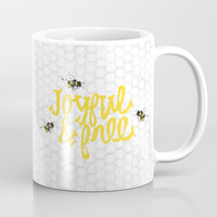 Joyful & Free Bumble Bees Mug by Stephanie Troutner Designs