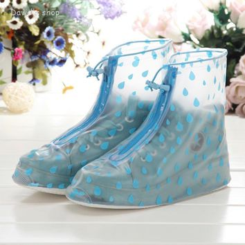 waterproof wear directly washed Transparent high state of rain shoe covers anti-skid b