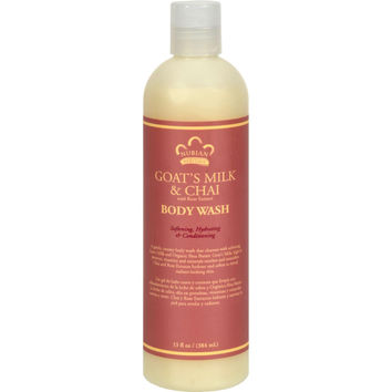 Nubian Heritage Body Wash Goat's Milk And Chai - 13 Fl Oz