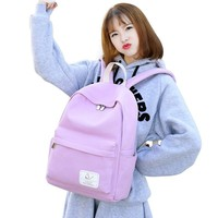 Backpack School Bags For Teenage Pack Canvas Cute colour Printing Backpack Set For Children Fashion New Polyester Knapsack Kids