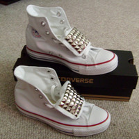 Free Shipping Custom Adult Studded Converse Shoes by ChaoticMayhem