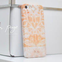 Apple iphone case for iphone iphone 5 iphone 5s iphone 5c iphone 4 iphone 4s iPhone 3Gs  :Classic vintage floral on wood (Not real wood)