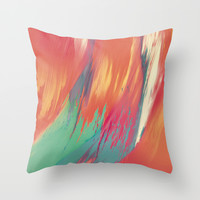 """The Beach"" Throw Pillow by Bryon S White"