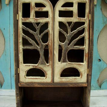 Wall Cabinet Handmade Oak Tree - Woodland Shelf Cabinet
