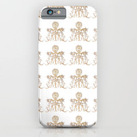 Indian henna in white background iPhone & iPod Case by Color and Color