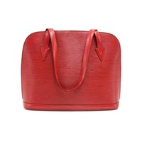 Louis Vuitton Lussac Red Epi Leather Vintage Shoulder Bag