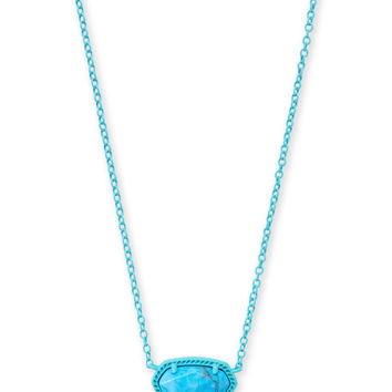 Elisa Matte Necklace Aqua Howlite | Kendra Scott