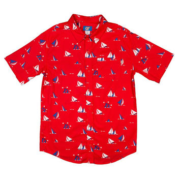 EARL SINKING BOAT WOVEN SHIRT RED – Odd Future