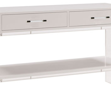 Console Harpe, Acrylic / Lucite, Console Table