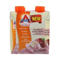 Atkins Day Break RTD Shake Strawberry Banana - 11 fl oz Each - Pack of 4