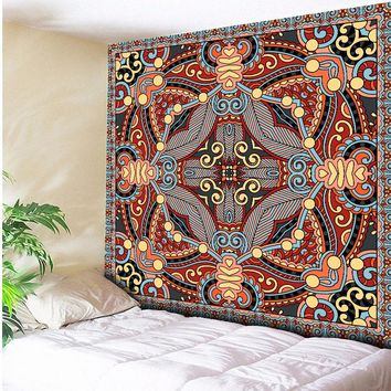 Vintage Tribes Seamless Geometric Indian Tapestry Wall Hanging Beach Throw Towel Yoga Mat Blanket Table Cloth 150x200CM 130x150