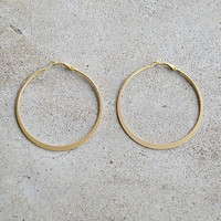 Classic Hoop Earrings - Matte Gold