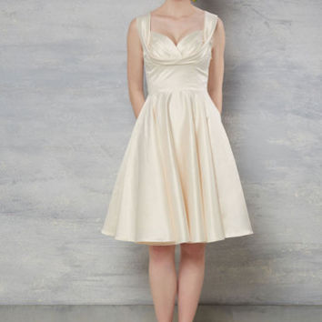 Aisle Be There Fit and Flare Dress in Ivory | Mod Retro Vintage Dresses | ModCloth.com