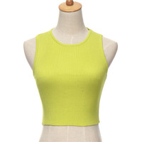 Sleeveless Casual Cropped Top