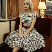 50's rockabilly dresses, retro style bridesmaids dress, modest clothing with sleeves - AMY style