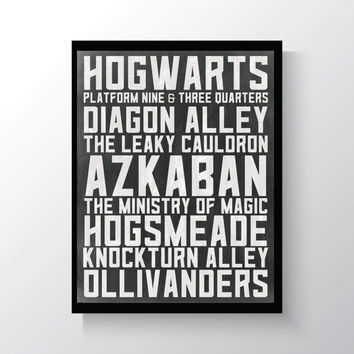 Harry Potter || Places - Print