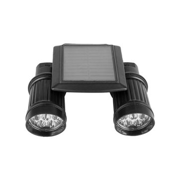 Solar Sensor Light Spotlights 14LED Double Head PIR Human Body Infrared Induction Outdoor Garden Pathway Waterproof Wall Lamp