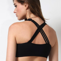 Mixology Caged Back Bralet - Black