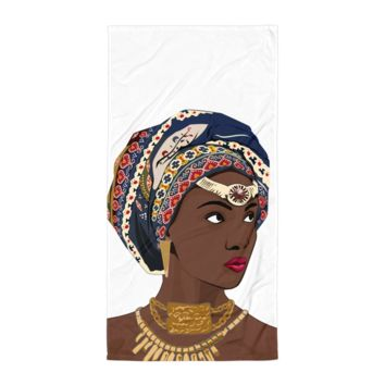 African Headwrap Diva Beach Blanket