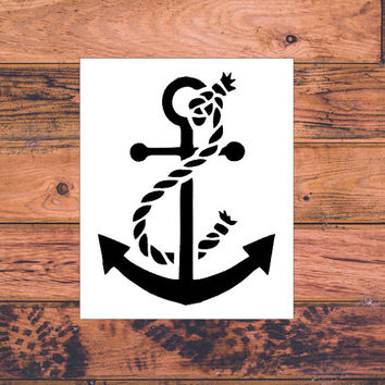 Anchor Car Decal | Anchor Monogram Decal | Monogram Anchor Vinyl | Decal Monogram Gift | Monogram sticker | Car sticker | Anchor Decal | 255