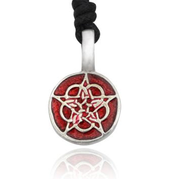 Pentagram Gothic Wicca Silver Pewter Charm Necklace Pendant Jewelry