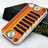 Jeep Wrangler Orange - iPhone Case and Samsung Case.BeachCoverr.