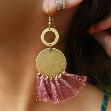 Now & Later Earrings: Gold/Blush