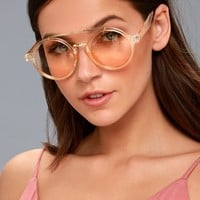 Room 32 Peach Round Sunglasses