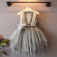 Soft Gray Tutu Dress