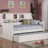 Daisy Collection White Twin Storage Daybed