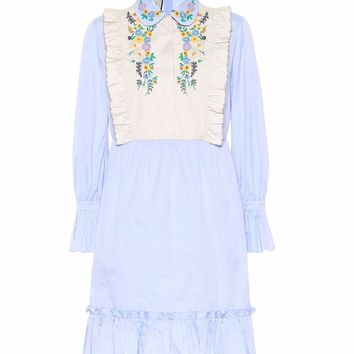 Embroidered cotton mididress