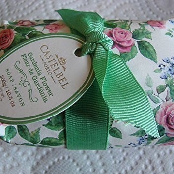 Castelbel Single Bar Soap Made in Portugal - GARDENIA BLOSSOM 10.5 oz Gift Wrapped Luxury bath soap