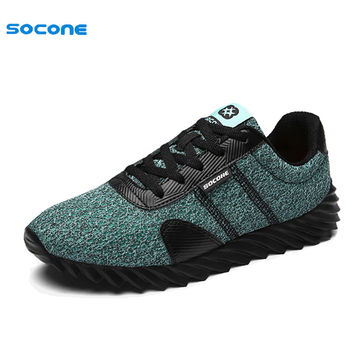 2017 Popular Fluorescence Color Men Sneakers Summer Spring Outdoor Sport Breathable Air Mesh Boy Running Shoes Cool fba9166-1