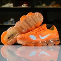 OFF White Nike Air VaporMax Flyknit OG Orange 2018 World Cup 849558-810 Sport Running Shoes - Best Online Sale